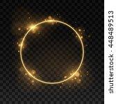vector round frame. shining... | Shutterstock .eps vector #448489513