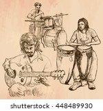 an hand drawn vector   music... | Shutterstock .eps vector #448489930