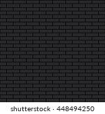 seamless black bricks vector... | Shutterstock .eps vector #448494250