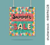 abstract retro summer sale... | Shutterstock .eps vector #448496128