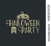 halloween 2016 party label... | Shutterstock .eps vector #448502929