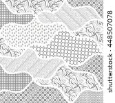 black and white vector drawing... | Shutterstock .eps vector #448507078