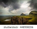 Scottish Sheep On The Ledge Of...