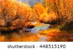 Beautiful Painting Of The River ...