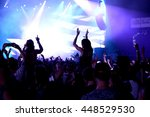 barcelona   jun 19  crowd dance ... | Shutterstock . vector #448529530