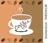 mug of coffee | Shutterstock .eps vector #448534138