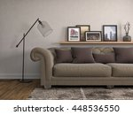 interior with sofa. 3d... | Shutterstock . vector #448536550
