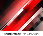 red futuristic background design | Shutterstock . vector #448540954