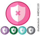icons flat security off for web ... | Shutterstock .eps vector #448541110