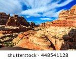 a valley of needles in... | Shutterstock . vector #448541128