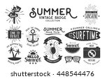 set of summer vintage badge and ... | Shutterstock .eps vector #448544476