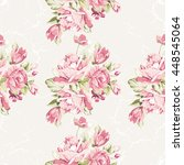 seamless floral pattern with... | Shutterstock .eps vector #448545064