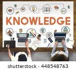 academic knowledge improvement... | Shutterstock . vector #448548763