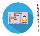 id card icon in blue circle... | Shutterstock .eps vector #448549273