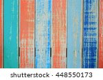 colorful wood background | Shutterstock . vector #448550173