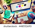 printing process offset ink... | Shutterstock . vector #448552693