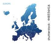 map of europe | Shutterstock .eps vector #448556416