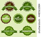 set of organic badges and labels | Shutterstock .eps vector #448561084