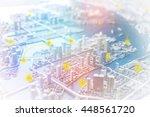 modern cityscape and wireless... | Shutterstock . vector #448561720