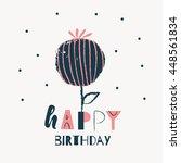 happy birthday card design.... | Shutterstock .eps vector #448561834