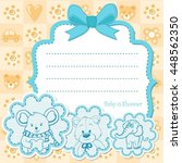 baby boy invitation for baby... | Shutterstock .eps vector #448562350