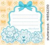 baby boy invitation for baby... | Shutterstock .eps vector #448562350