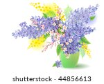 bunch of lilac  blossoming tree ... | Shutterstock .eps vector #44856613
