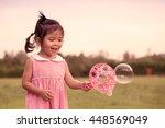 child cute little girl having... | Shutterstock . vector #448569049