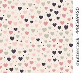 seamless hearts and dots... | Shutterstock .eps vector #448569430