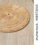 Weave Tray On Warm Wood...