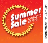 summer sale advertisement ... | Shutterstock .eps vector #448574884