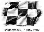 checkered flag on plain... | Shutterstock . vector #448574989