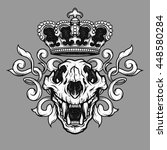 the crown and the lion skull.... | Shutterstock .eps vector #448580284