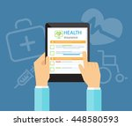 flat vector for health... | Shutterstock .eps vector #448580593