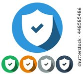icons flat security on for web  ... | Shutterstock .eps vector #448585486