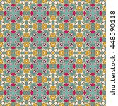 seamless pattern with ethnic... | Shutterstock .eps vector #448590118