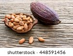 Collection Of Cacao Seeds From...