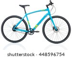 new blue bicycle isolated on a... | Shutterstock . vector #448596754