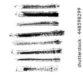 set of different grunge brush... | Shutterstock .eps vector #448598299