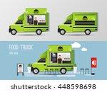 food truck  street food vector... | Shutterstock .eps vector #448598698