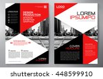 business brochure flyer design... | Shutterstock .eps vector #448599910