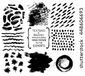 hand drawn textures and brushes.... | Shutterstock .eps vector #448606693
