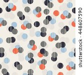 seamless dots pattern | Shutterstock .eps vector #448607590