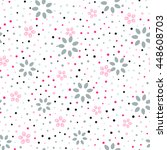 seamless floral pattern with... | Shutterstock .eps vector #448608703