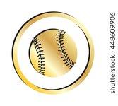 gold baseball icon | Shutterstock .eps vector #448609906