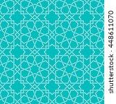 entwined modern pattern  based... | Shutterstock .eps vector #448611070