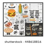 retro vintage style fast food...   Shutterstock .eps vector #448618816
