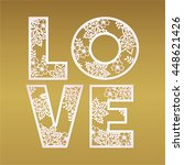 paper cutout love design over... | Shutterstock .eps vector #448621426