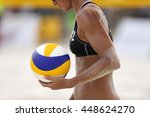 Volleyball Player Is A Female...