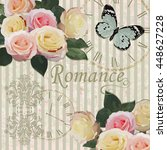 vintage background with roses... | Shutterstock .eps vector #448627228